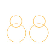 DOUBLE LINK HOOPS EARRINGS, EARRINGS, SEVEN50 WOMAN, SEVEN50 GROUP USA - SEVEN-50.COM