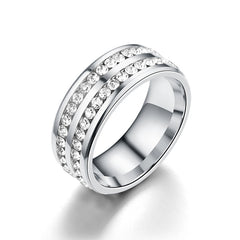DOUBLE ROW ETERNITY BAND RING | SEVEN50