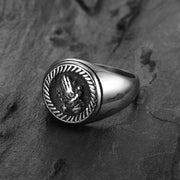 Jewelry-Fashion-Stainless-Steel-Signet-Rings-Round-Praying-hands--signet-ring-for-Men,Pinky-Ring-for-Men--Mens-fashion-Jewelry--Gift-for-Him--Mens-Ring-2