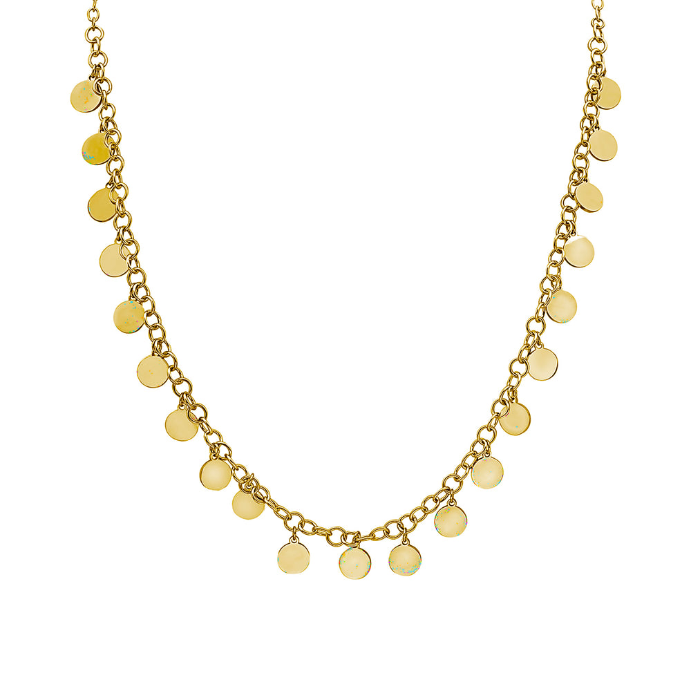 LONG FLAPPER DISC NECKLACE, Collana, JEWELS BY NIDA, SEVEN50 GROUP USA - SEVEN-50.COM