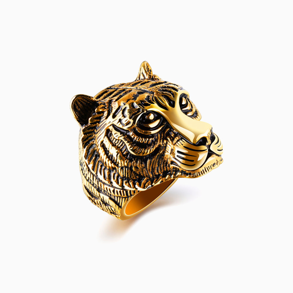 lion head ring in stainless steel by CHARLIE MATTHEWS x seven50