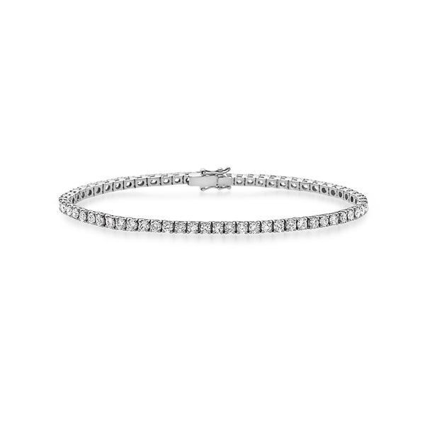 MADE IN ITALY 18K 4 GRIF PRONGS CLASSIC TENNIS BRACELET