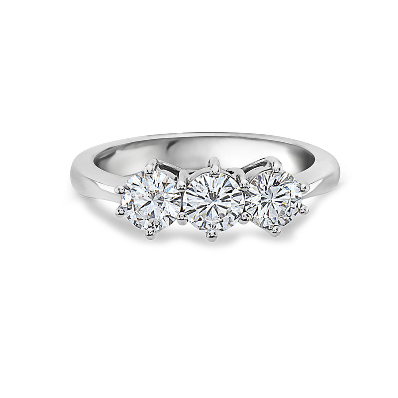 MADE IN ITALY 18K CLASSIC TRILOGY TRIO DIAMOND RING, WOMEN RING, SEVEN50 WOMAN, SEVEN50 GROUP USA - SEVEN-50.COM