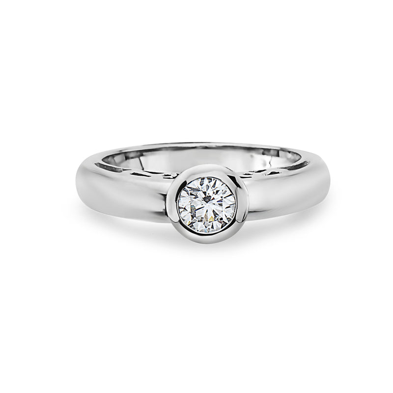 MADE IN ITALY 18K FASHION BRIDAL SOLITAIRE RING, WOMEN RING, SEVEN50 WOMAN, SEVEN50 GROUP USA - SEVEN-50.COM