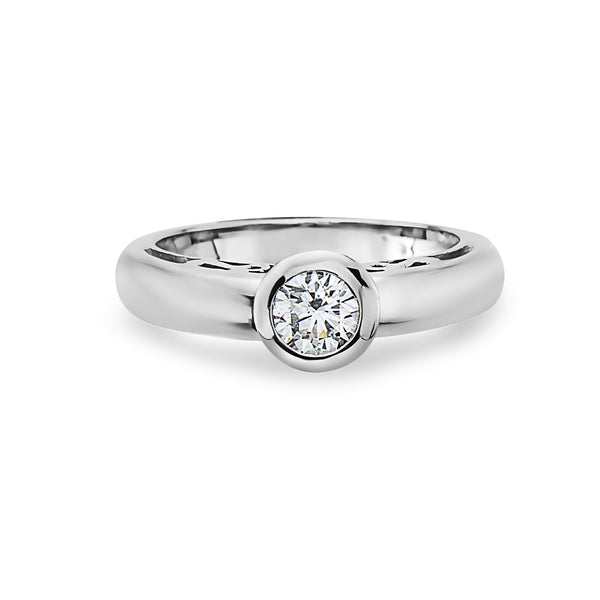 MADE IN ITALY 18K FASHION BRIDAL SOLITAIRE RING