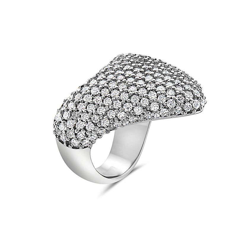 MADE IN ITALY 18K PAVE FASHION DIAMONDS RING, WOMEN RING, SEVEN50 WOMAN, SEVEN50 GROUP USA - SEVEN-50.COM