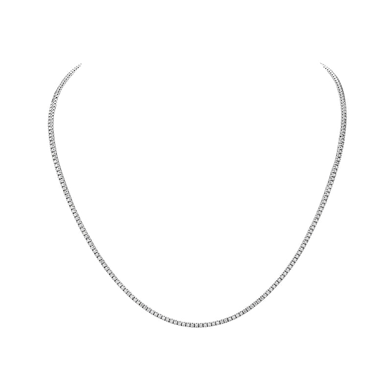 MADE IN ITALY 18K WHITE DIAMOND TENNIS NECKLACE, Necklace, SEVEN50 WOMAN, SEVEN50 GROUP USA - SEVEN-50.COM