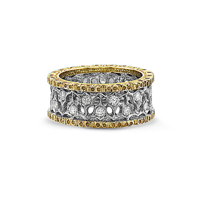 MADE IN ITALY ALTERNATE 18K HAND CRAFT ETERNELLE WEDDING BAND RING, WOMEN RING, SEVEN50 WOMAN, SEVEN50 GROUP USA - SEVEN-50.COM