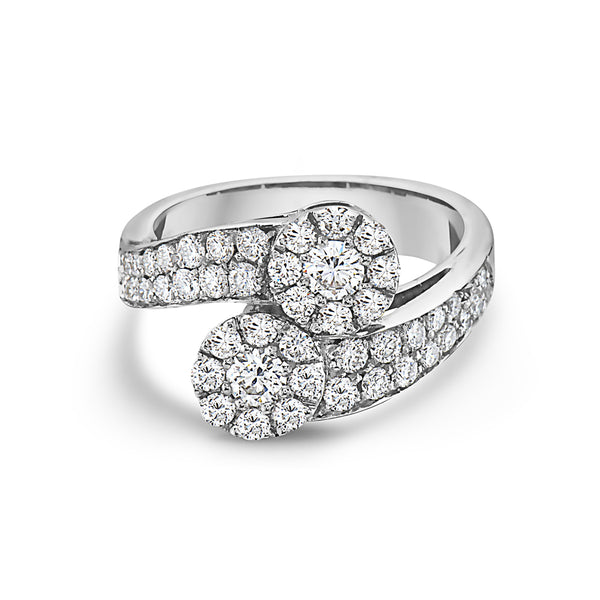 MADE IN ITALY CONTRARIE CLUSTER ILLUSION ROUND DIAMONDS RING