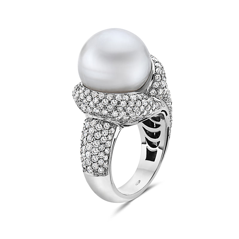 MADE IN ITALY ESTATE ARMONY PEARL RING, WOMEN RING, SEVEN50 WOMAN, SEVEN50 GROUP USA - SEVEN-50.COM