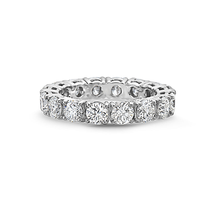 MADE IN ITALY LARGE 18K WHITE GOLD BAND RING, WOMEN RING, SEVEN50 WOMAN, SEVEN50 GROUP USA - SEVEN-50.COM