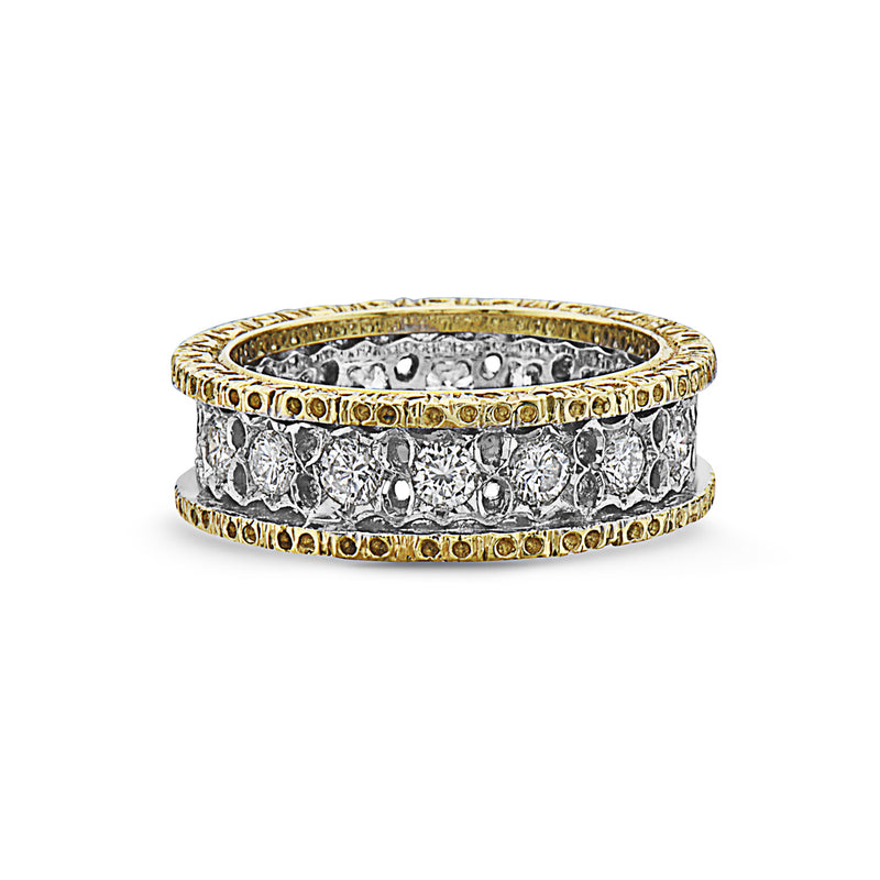 MADE IN ITALY SINGLE BAND 18K HAND CRAFT ETERNELLE WEDDING BAND RING, WOMEN RING, SEVEN50 WOMAN, SEVEN50 GROUP USA - SEVEN-50.COM
