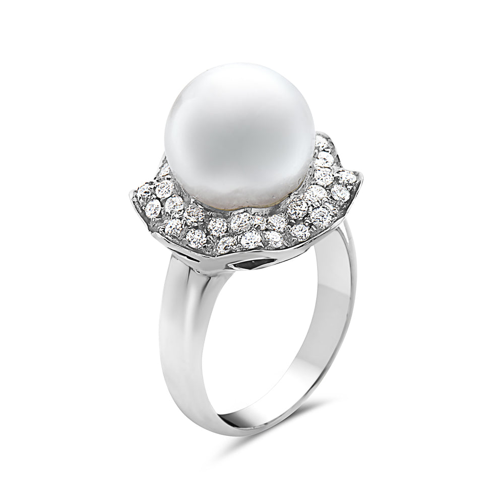 360a1eb7269e5 MADE IN ITALY SOLITAIRE PEARL RING