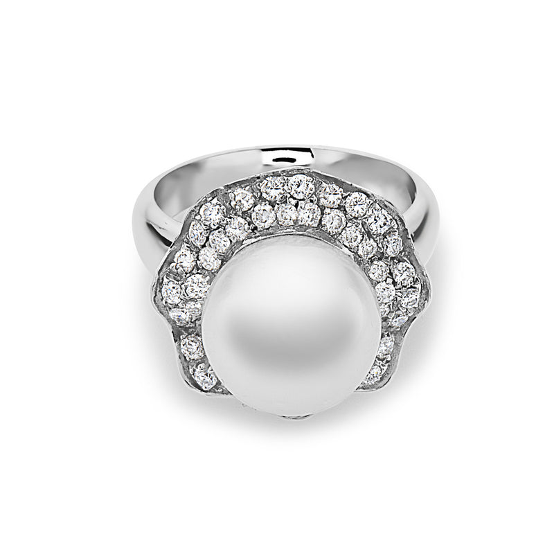 MADE IN ITALY SOLITAIRE PEARL RING, WOMEN RING, SEVEN50 WOMAN, SEVEN50 GROUP USA - SEVEN-50.COM