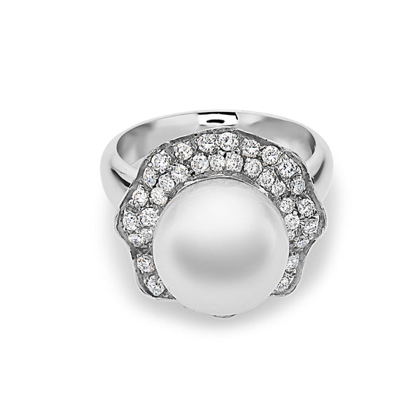 MADE IN ITALY SOLITAIRE PEARL RING