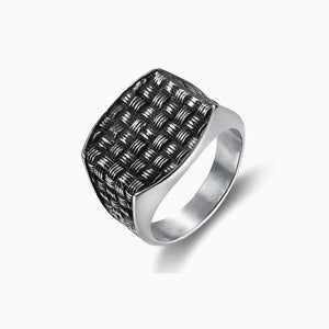 MESH SIGNET RING, RING, SEVEN50, SEVEN50 GROUP USA - SEVEN-50.COM