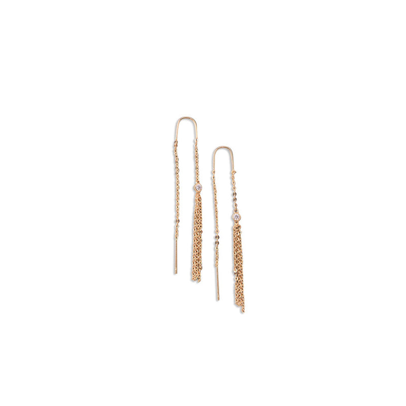 MULTI CHAIN EARRINGS by JESSICA MICHEL SERFATY for SEVEN50