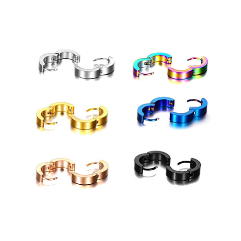 Stainless Steel Small Hoop Earrings Set Clip On Earrings Set for Men Women Huggie Earrings