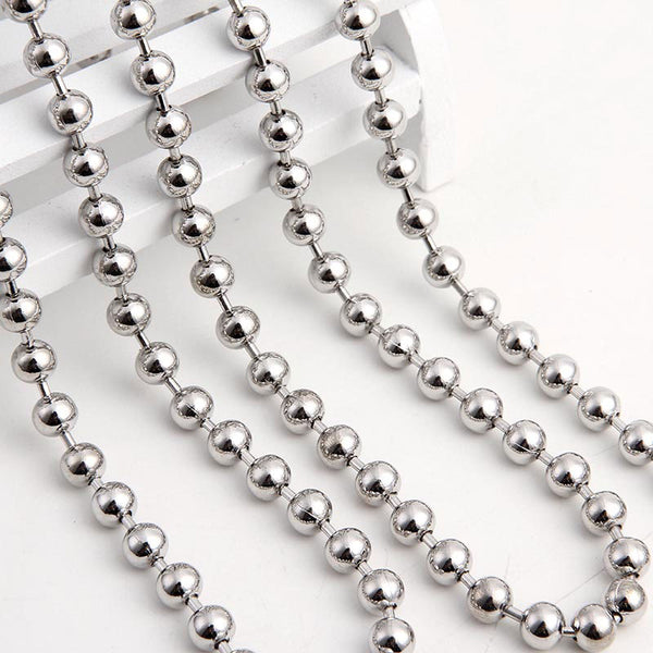 IP PLATED 3MM BEADS CHAIN NECKLACE