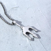 Mens-fashion-jewelry-black-fork--pendant-necklace-in-stianless-steel