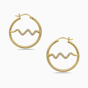 HOOP SNAKE Earrings, EARings, MUSE, SEVEN50 GROUP USA - SEVEN-50.COM