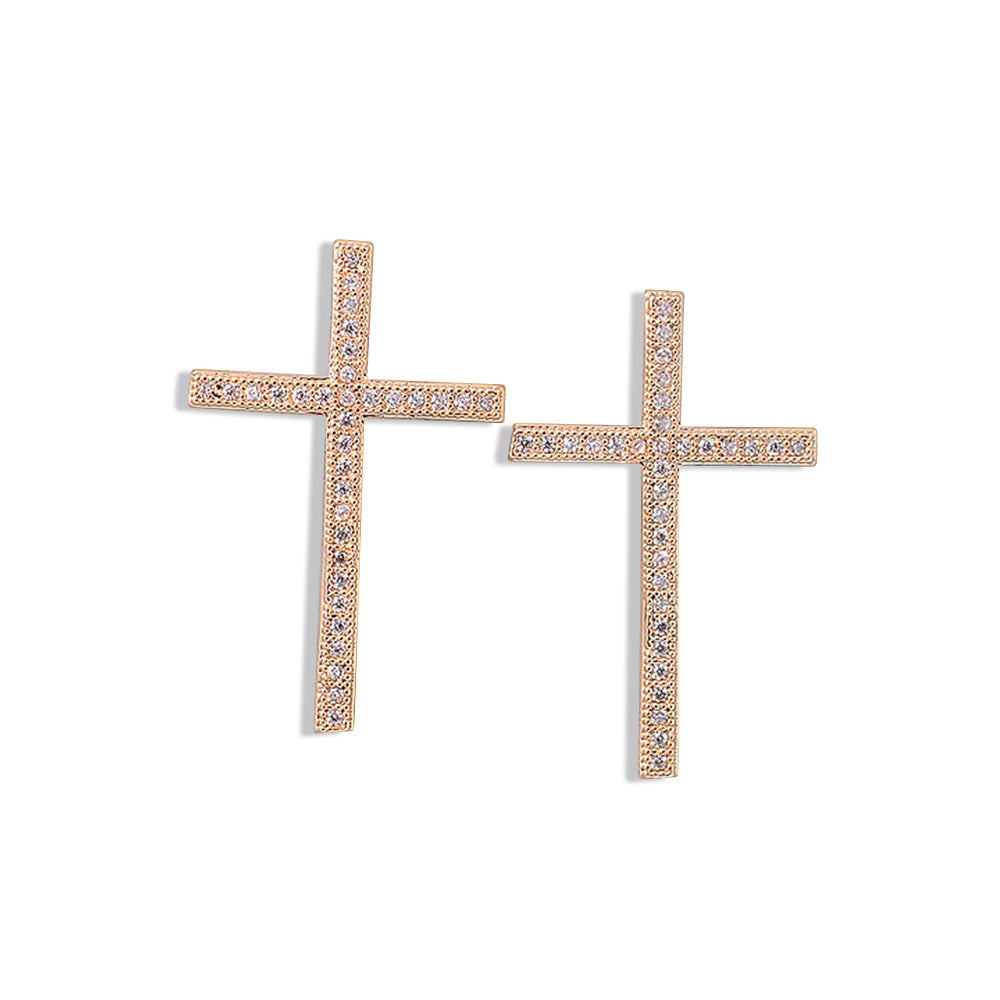CROSS Earrings, EARINGS, ROSES CLOUD JEWELRY, SEVEN50 GROUP USA - SEVEN-50.COM