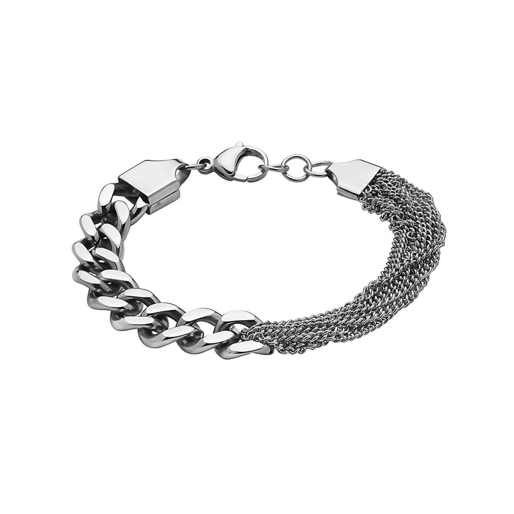 SEVEN50-WHITE-10MM-CUB-LINK-CHAIN-AND-HALF-MIX-SMALL-CHAIN-BRACELET-IN-STAINLESS-STEEL