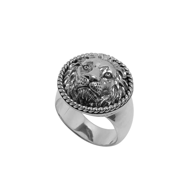 SPIZOIKY SIGNET COIN LION RING
