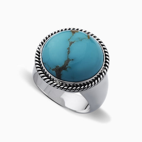 SIGNET COIN TURQUOISE RING - Josh Mario John with DEARSAINTS for SEVEN50