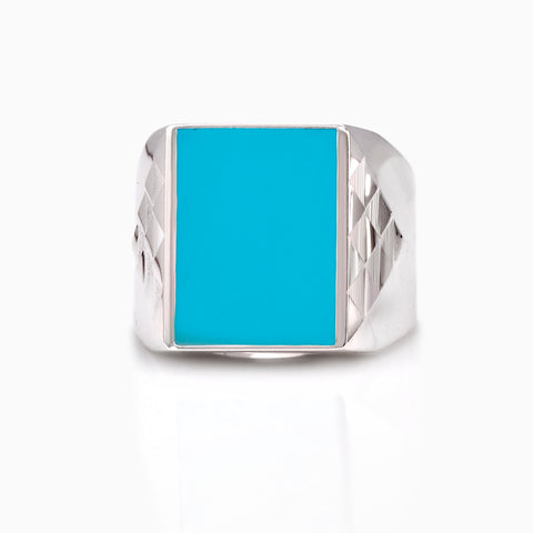 SIGNET ENAMEL WINGS RING by SEVEN50