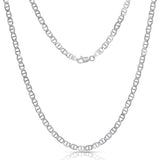 STERLING SILVER MADE IN ITALY 14K FLAT MARINERANCHOR CHAIN NECKLACE