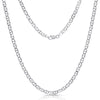 STERLING SILVER MADE IN ITALY 14K FLAT MARINER/ANCHOR CHAIN NECKLACE