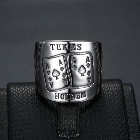 Stainless-Steel---Texas-Hold'em-Gothic-Band-Vintage-Ring-Fashion-Jewelry-for-Men-and-Women---Gothic-Band---Fashion--Jewelry---Accessories