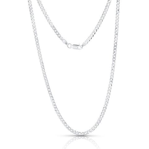 Sterling-Silver-Made-in-Italy-14K-Yellow-plated-4mm-Curb-Chain-Necklace