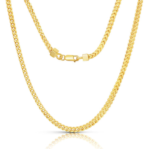Sterling-Silver-Made-in-Italy-14K-Gold-plated-2mm-Franco-Chain-Necklace-2