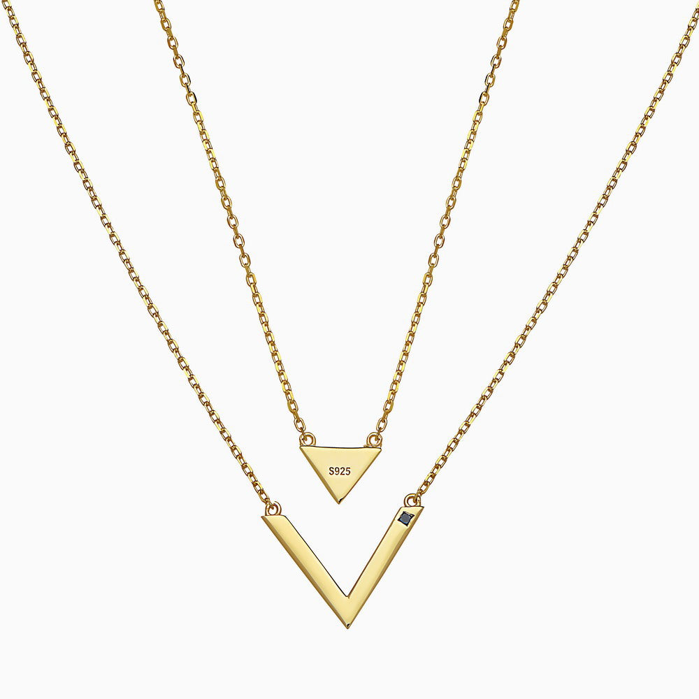 TRIANGLE V YELLOW NECKLACE by jaye kaye x seven50