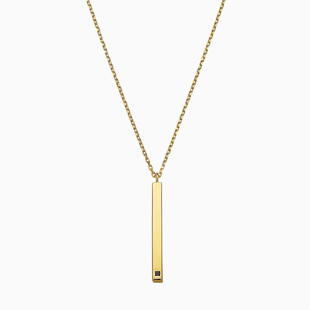 VERTICAL LINEAR YELLOW NECKLACE by jaye kaye x seven50