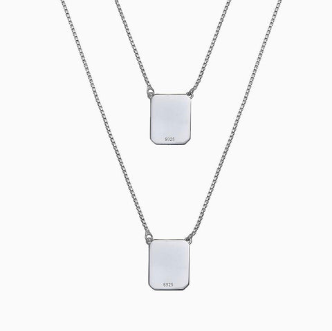 WHITE STERLING SILVER SCAPULAR NECKLACE BY ANTHONY PECORARO X SEVEN50 2