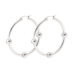 BALLS HOOPS EARRINGS, EARRINGS, SEVEN50 WOMAN, SEVEN50 GROUP USA - SEVEN-50.COM