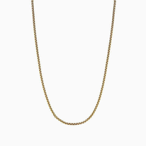 YELLOW ROUND BOX CHAIN NECKLACE 3.6MM  by andrea denver for seven50