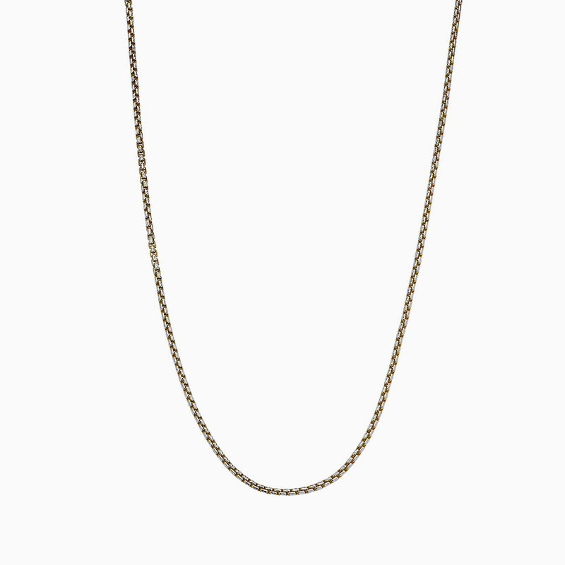 YELLOW ROUND BOX CHAIN WITH DIAMOND CUT NECKLACE 2.3MM   by andrea denver for seven50