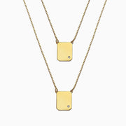 YELLOW SCAPULAR DIAMONDS NECKLACE by anthony pecoraro x seven50