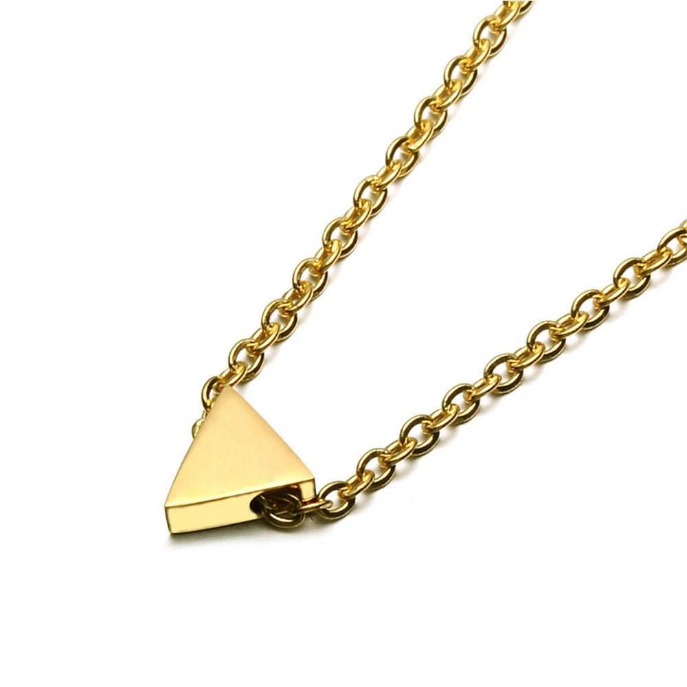 Yellow Triangle pendant necklace in stainless steel by seven50 1