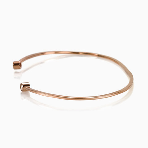 DIAMOND ROSE GOLD BANGLE CUFF, Bracciale, SEVEN50 WOMAN, SEVEN50 GROUP USA - SEVEN-50.COM