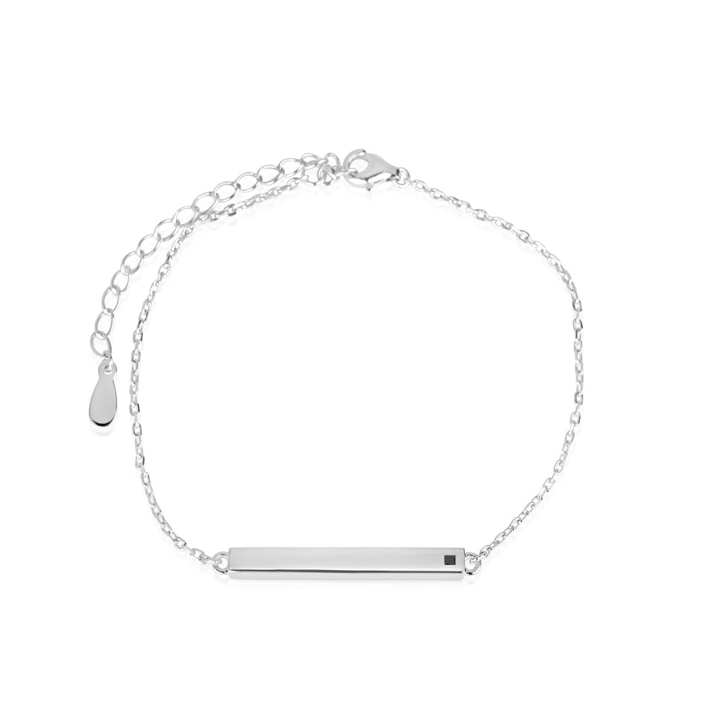 LINEAR BAR WHITE BRACELET, BRACELET, JAYE KAYE, SEVEN50 GROUP USA - SEVEN-50.COM