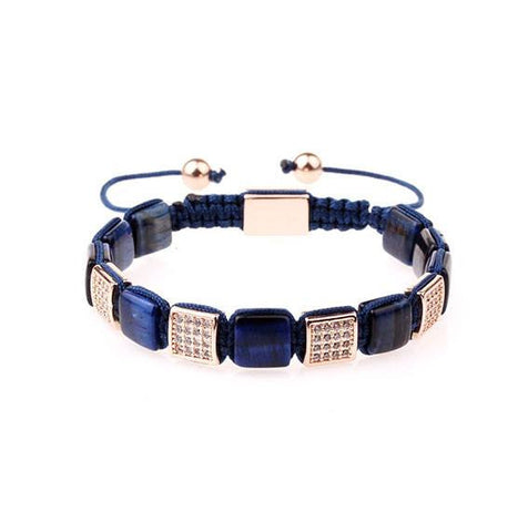 BRACELET - ROSE N' BLUE BRICKS BRACELET