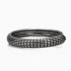 MEN'S STERLING SILVER TURTLE TEXTURED CUFF, BRACELET, ANDREA MELCHIORRE, SEVEN50 GROUP USA - SEVEN-50.COM