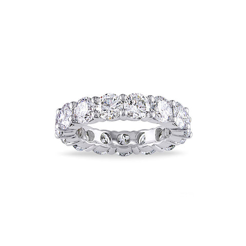 LUXURY 4mm CUBIC ZIRCONIA ETERNITY BAND RING