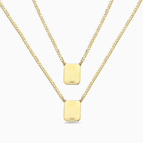 YELLOW CURB CHAIN SCAPULAR NECKLACE by anthony pecoraro for seven50