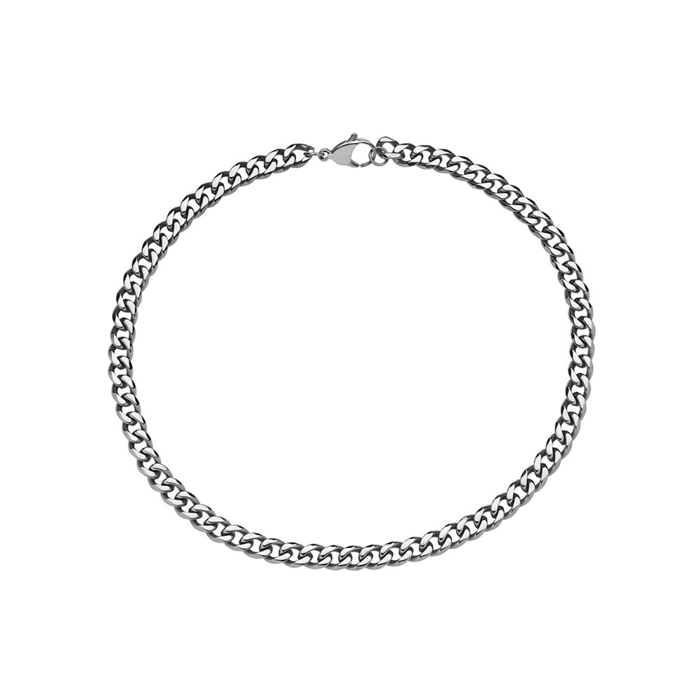 DIEGO BARRUECO CUBAN LINK ( 6 MM ) STAINLESS STEEL NECKLACE